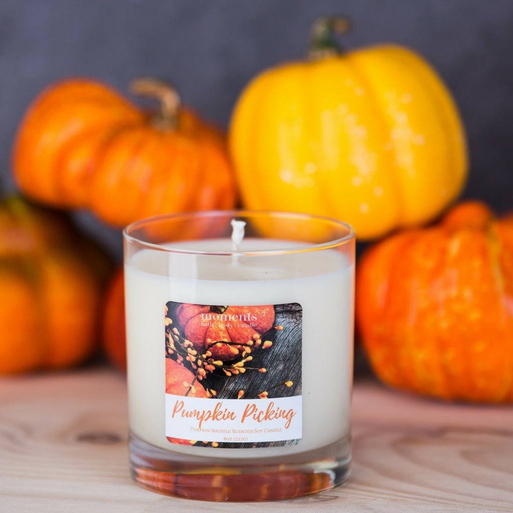 Pumpkin Picking Soy Candle Pumpkin Souffle Scented - Hero