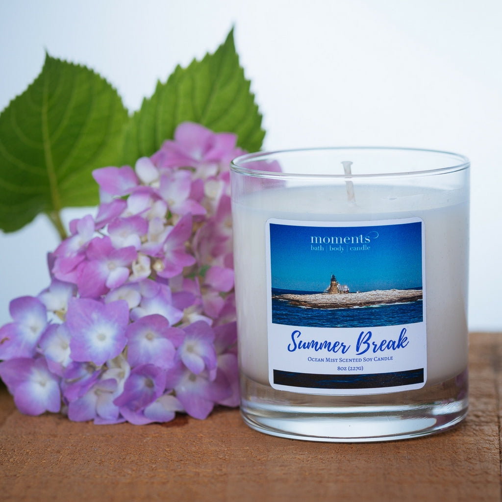 Summer Break Soy Candle Ocean Mist Scented