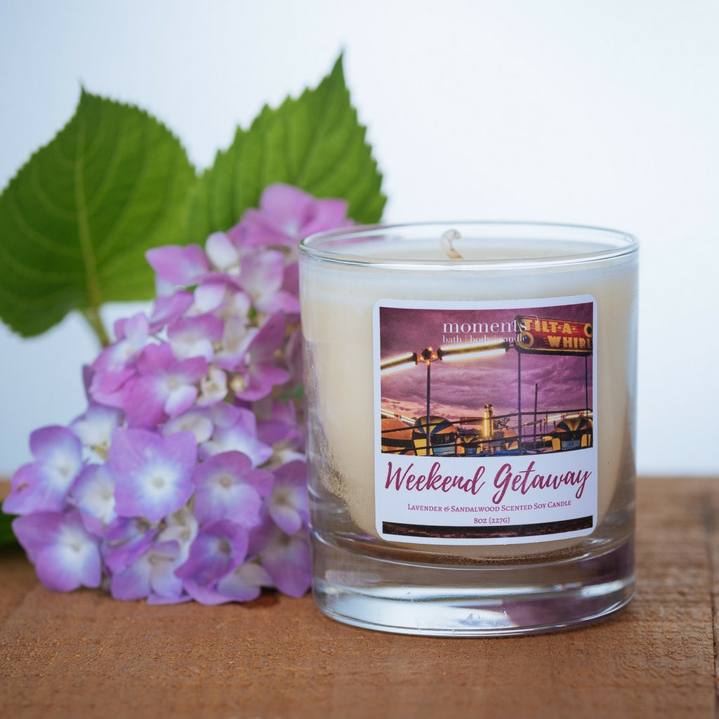 Weekend Getaway Sandalwood and Lavender Scented Soy Candle