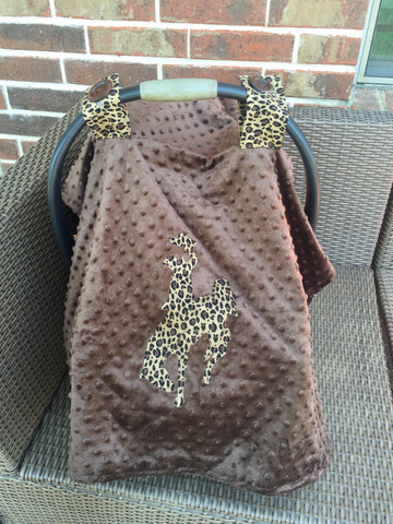 Leopard carseat canopy