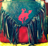 red bucking horse diaper bag