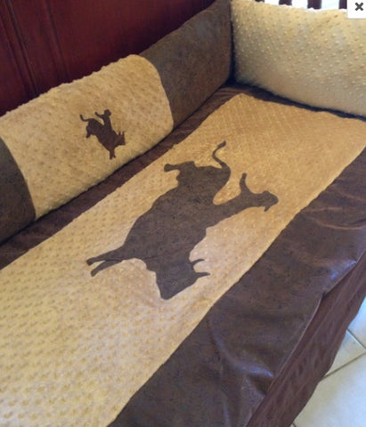 Bullrider Cowboy baby bedding for your nursery