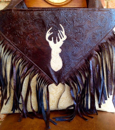 cream buck hunting diaper bag