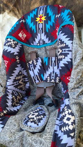 Southwestern aztec carseat cover