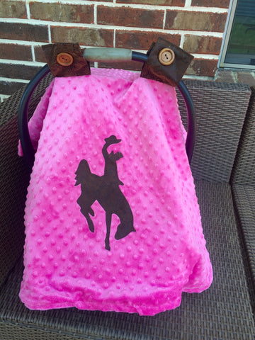 Pink bucking horse canopy