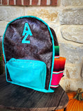 Turquoise and serape brand backpack