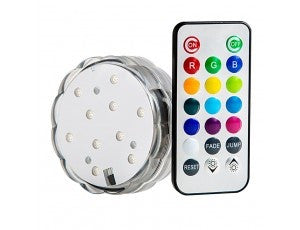 Remote controlled color changing LED disks