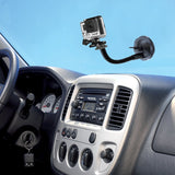 Flexible Car Windshield Dash Camera Suction Cup Mount with Tripod Adapter for Cameras/GoPro