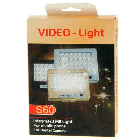 264205f2c7c3 ... S60 Mini 32 LED Powerful 5600K Photo Video Light for Camera Phone ...
