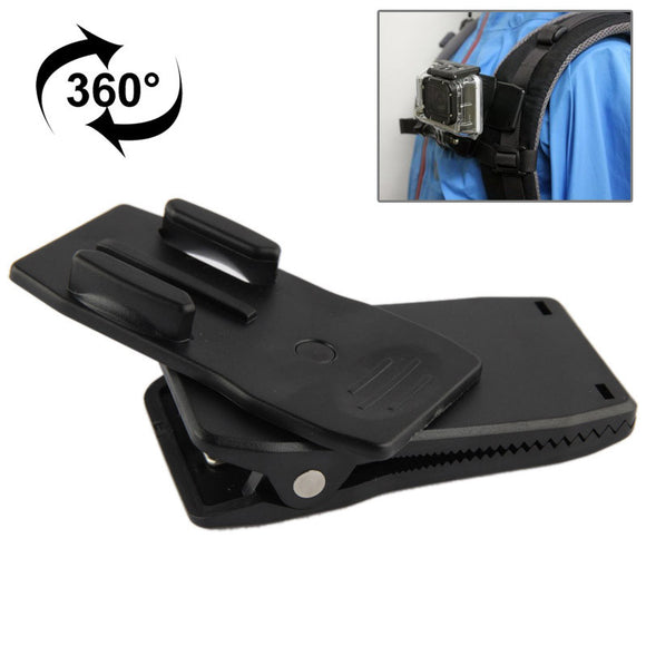 360 Degree Rotating Fast Clip Clamp Mount for Gopro and Action Cameras