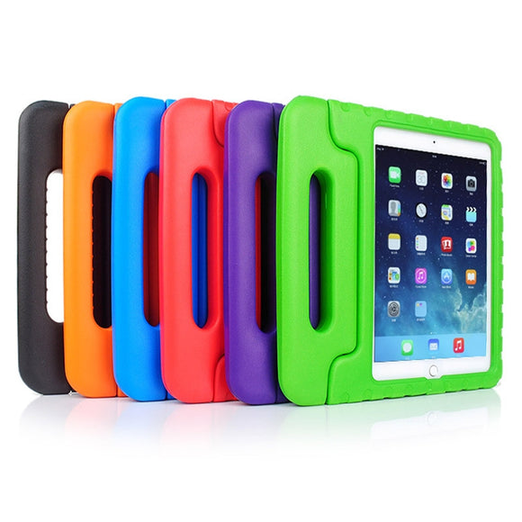 Colorful Kids Proof Thick Foam EVA Shock Proof Foam Case Silicone Cover Stand For Apple IPAD