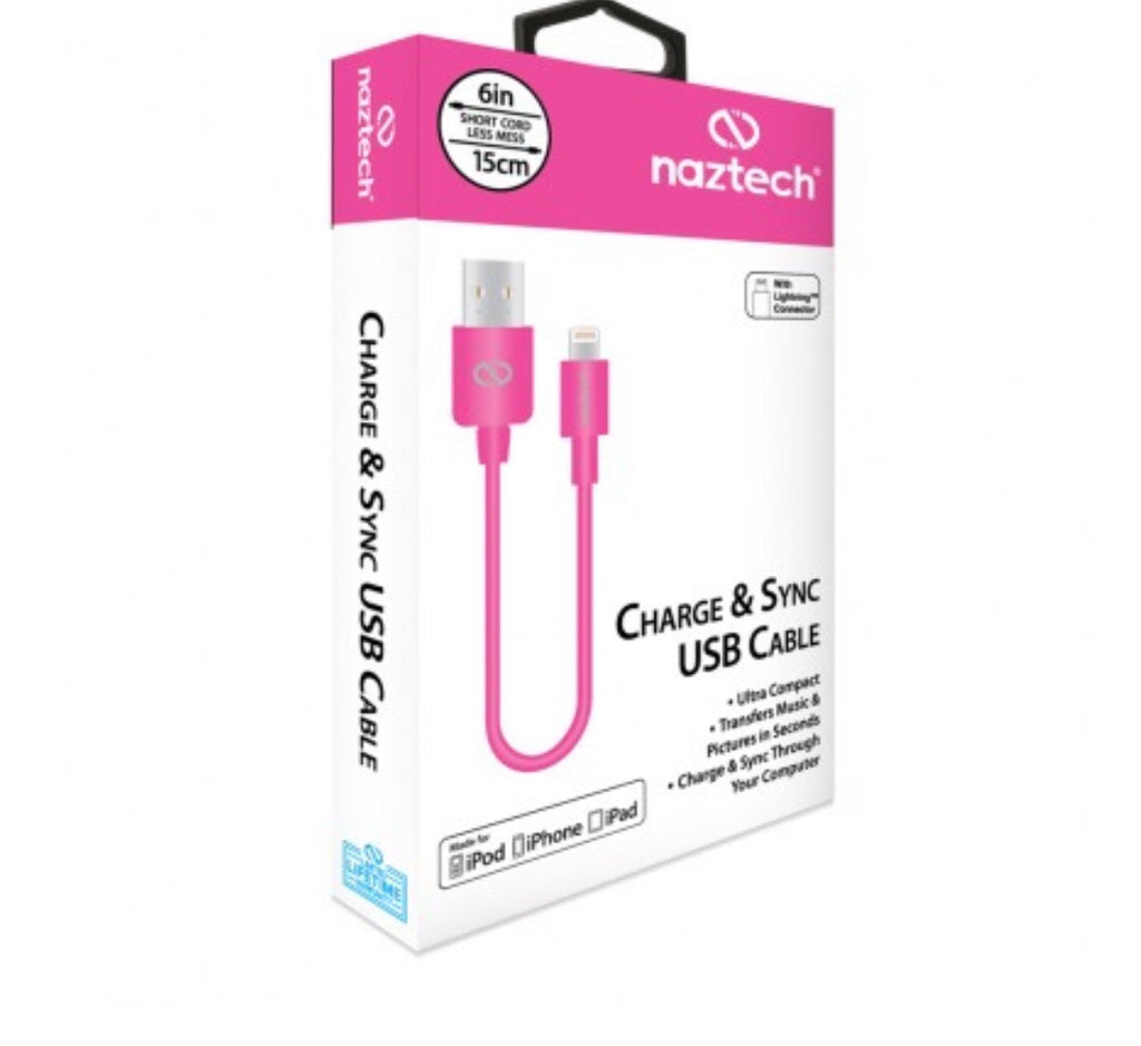 NAZTECH 6 INCH LIGHTNING CABLE