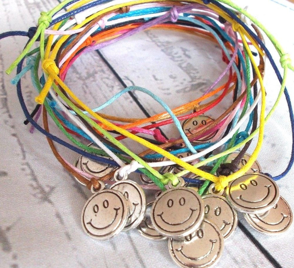 or emoji anklets s cord smiley magic bracelets slider supermuffin and wax bracelet sliding anklet knot choker products