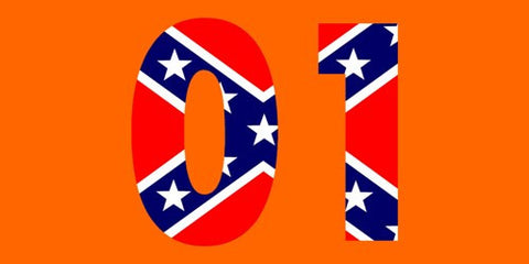 01 General LEE Orange Bumper Sticker