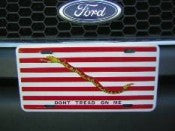 First Navy Jack Aluminum License Plate