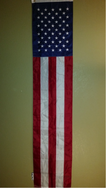 "U.S.A. 20""X8"" NYLON EMBROIDERY SEWN FLAG"
