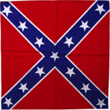 "REBEL FLAG BANDANNA 22""X 22"""