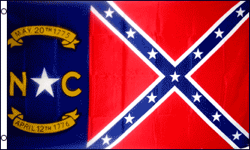 3'X5' Super poly North Carolina flag