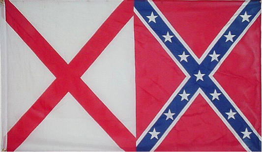 3'X5' SUPER POLY ALABAMA CONFEDERATE FLAG