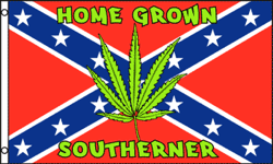 3'X5' SUPER POLY HOME GROWN SOUTHERNER REBEL FLAG
