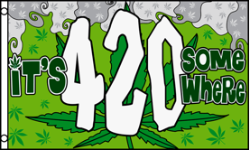 3'X5' SUPER POLY IT'S 420 SOMEWHERE FLAG