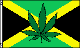 3'X5' SUPER POLY JAMAICAN WEED FLAG