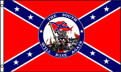 3x5 SUPER POLY SOUTH WILL RISE AGAIN REBEL FLAG