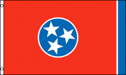 3x5 SUPER POLY TENNESSEE FLAG
