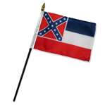 "4""X6"" STATE OF MISSISSIPPI FLAG"