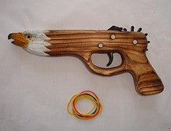Wooden Eagle Rubber Band Gun