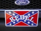 REBEL FLAG WITH REBEL AUTO TAG