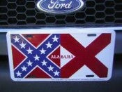 "Alabama Rebel Battle Aluminum License Plates (Auto Tag). 6""x12"""