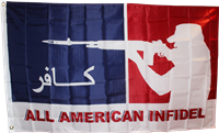 All American Infidel poly 3'x 5' flag
