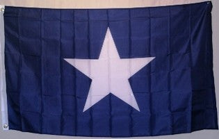 Bonnie Blue Polyester Flag with canvas header, brass grommets, and 4 rows of sewing on fly side.