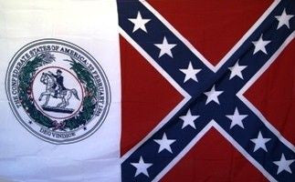 Confederate States of America & Rebel 3'x5' Polyester Flag with canvas headers .