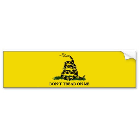 Gadsden bumper sticker yellow with snake