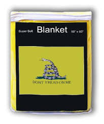 "Gadsden Yellow ""Don't tread on me"" 50"" x 60""  Blanket"