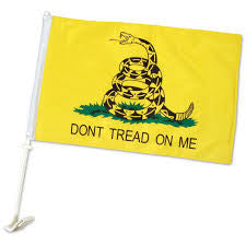 Gadsden Single sided car flag