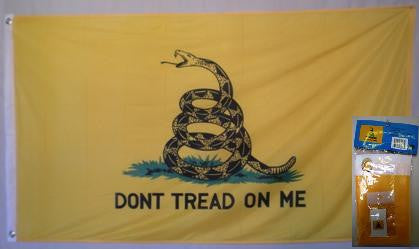 Gadsden Super-knit 3' x 5' flag with lapel pin
