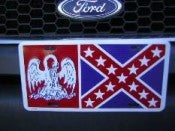 Louisiana Battle Aluminum License Plate