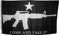 M4 COME AND TAKE IT BLACK FLAG