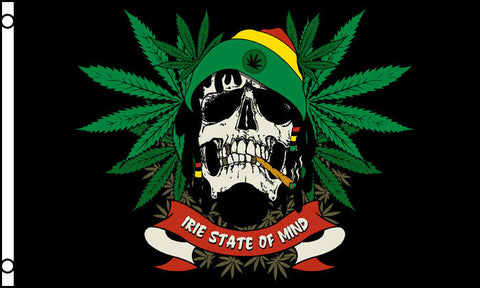 Rasta man Irie state of mind weed flag