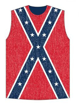 Rebel flag sleeveless shirt