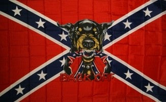 Rebel Back Off 3'x5' Polyester Flag with canvas header & brass grommets