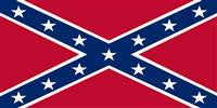 Confederate Navy Jack Bumper Sticker (Rebel)