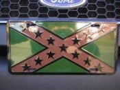 "Rebel Camouflage Aluminum License Plates (Auto Tag). 6""x12"""