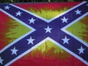 Rebel Flame 3'x5' Polyester Flag with canvas header & brass grommets.