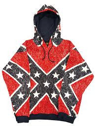 Rebel flag hoodie Jacket with zipper