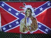 Rebel Indian 3'x5' Polyester Flag