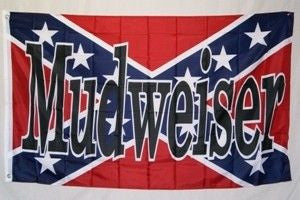Mudweiser Rebel 3'x5' Polyester Flag